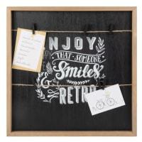 Gemusterter Mehrfachrahmen mit schwarzem Hintergrund 40x40 Smile