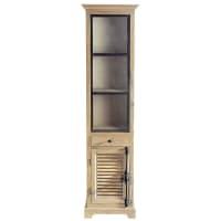 Gerecyclede houten vitrinekast B 52 cm Persiennes