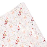 Set aus 2 - Geschenkpapier, bedruckt mit Weihnachtsmotiven, bunt L200