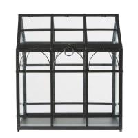 Gewächshaus aus schwarzem Metall Angelica