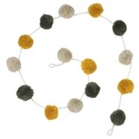 Ghirlanda in lana con pompon L72 Vintage