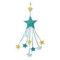 Ghirlanda stelle in cotone stampato H.116cm Dream