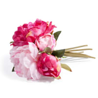 artificial pink peony bouquet H 25cm Gladys