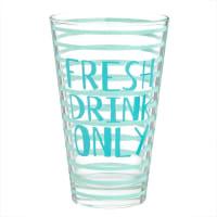 Glas mit blauen Mustern Only