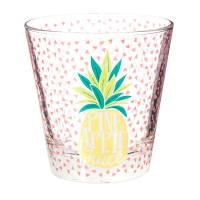 Glasbecher  mit Ananasdruck Pineapple