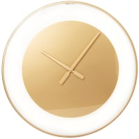LILIANA - Glass and gold metal clock D55cm