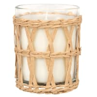 VERDADERO - Glass and wicker scented candle