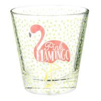 Glazen beker met flamingoprint Flamingo