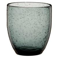 Lot de 6 - Gobelet en verre bullé teinté gris anthracite