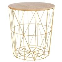 Gold Cage Side Table Mandala