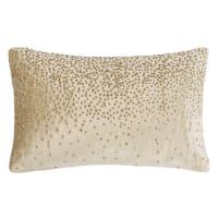 Gold Fabric Cushion 40 x 25 cm Tresor