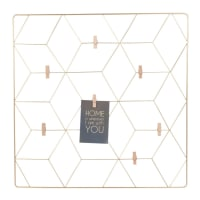 GRAPHIC - Gold Metal Photo Montage Frame 60x60