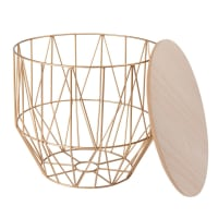 Gold Metal Wire Side Table Komodo
