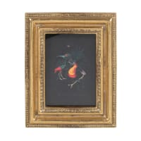 DIANA - Gold polyresin moulded photo frame 7x9cm