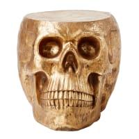 Gold Skull End Table Benicio