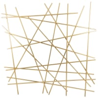 MOKABOKA - Gold wire metal wall art 70x70cm