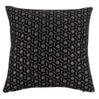 INZESDORF - Goudkleurige en zwarte jacquard geweven kussenhoes 40 x 40 cm