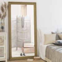 VALENTINE - Goudkleurige spiegel in paulowniahout 90x180