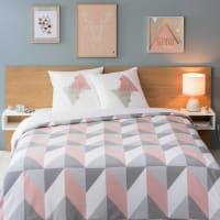 Grafische Bettwäschegarnitur bunt 220x240 Urban Soft