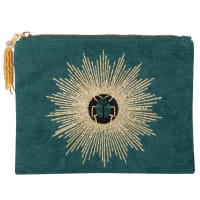 PETER - Green, gold and blue pouch