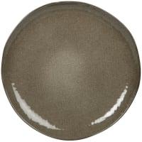 YELLOWSTONE - Set of 6 - Green stoneware dinner plate
