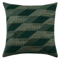 WABAN - Set of 2 - Green Velvet Cushion Cover with Graphic Print 40x40