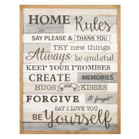 Grey and brown wall art 50x65 Home Rules