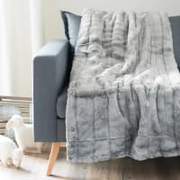 Grey Faux Fur Blanket 150x180 Harmony
