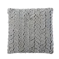 Grey Woven Velvet Cushion 45x45 Josephine
