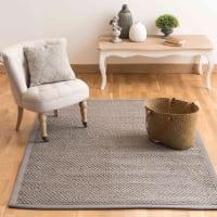 Grijs gevlochten sisal  tapijt 160 x 230 cm Bastide