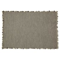 Grijs katoenen tapijt 120x180 Pompon