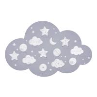 Grijze wolkvormige fotokader voor 12 foto's 50x32 Celeste