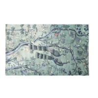 Groen en taupe tapijt met natuurlijke print 150x240 Orphee