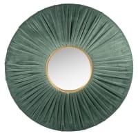 CECILY - Groene en goudkleurige fluwelen spiegel D70