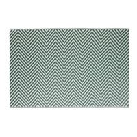 Grüner Outdoor-Teppich mit weißen grafischen Motiven 180x270