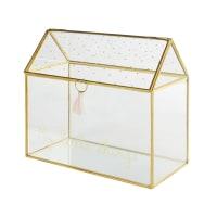 SUZON - Guarda-joias de vidro e metal dourado