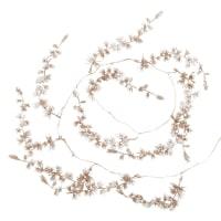 Guirlande de Noël marron enneigée L162