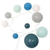 Guirlande lumineuse 10 LED boules bleues