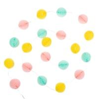 Guirlande lumineuse boules en papier 20 LED L135