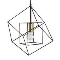 Hängeleuchte aus schwarzem Metalldraht Cube