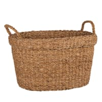 Hand-woven seagrass basket H26cm