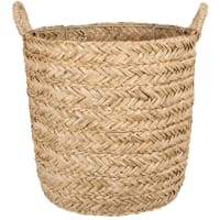 Hand-woven seagrass basket H30cm