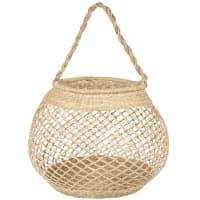 Hand-woven seagrass net basket