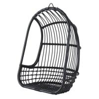 CHILL - Hangfauteuil uit zwart gevlochten rotan