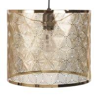Hanglamp van goudkleurig opengewerkt metaal Dhalma