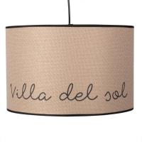 Hanglamp van linnen met print Villa Del Sol