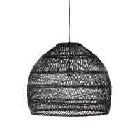 Hanglamp van zwart gevlochten rotan D60 Wild