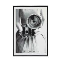 Holzbild im Vintage-Stil 76x110 Studio