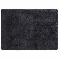Hoogpolig antracietkleurig stoffen  tapijt 200x300 Polaire