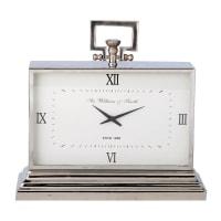 Horloge à poser en métal effet chromé L47 Kingston